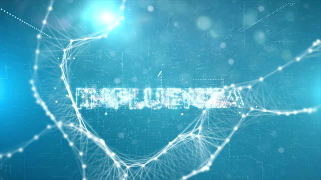animazione del titolo influenzale - vettore della malattia video stock e b–roll