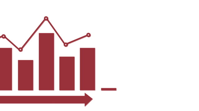 Infographic röd stapeldiagram