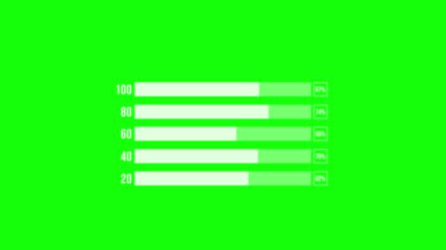 vidéos et rushes de infographie bar graph, positive trend chart, croissance financière, loopable. - rectangle
