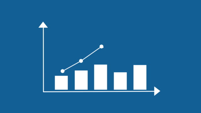 infografiken bar graph - liniendiagramm stock-videos und b-roll-filmmaterial