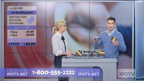 us infomercial montage: female host talking about the car wax product being presented on the show - television advertisement stock videos & royalty-free footage