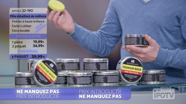 infomercial montage in french: female host talking about the car wax product being presented on the show - television show stock videos and b-roll footage