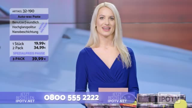 infomercial montage in german: female host introducing male car wax presenter on the show - television host stock videos & royalty-free footage