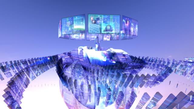 vídeos y material grabado en eventos de stock de information monitors - realidad aumentada