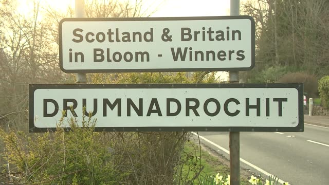 information sign in scotland - roadside stock videos & royalty-free footage