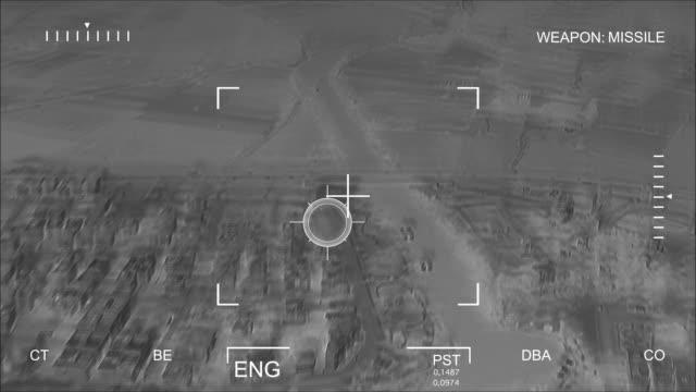 Infrarouge Bombardement aérienne