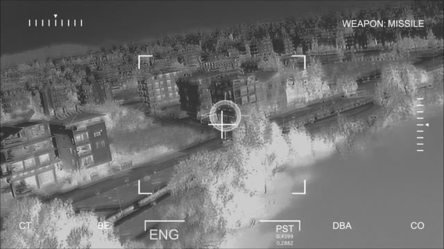 stockvideo's en b-roll-footage met infrared air attack - terrorisme