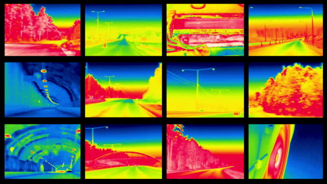infrared drive wall - thermal imaging stock videos & royalty-free footage