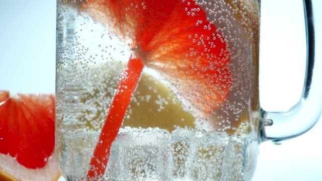infused water close-up - carbonated stock videos & royalty-free footage