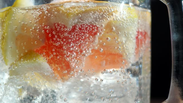 infused water close-up - freshness stock videos & royalty-free footage