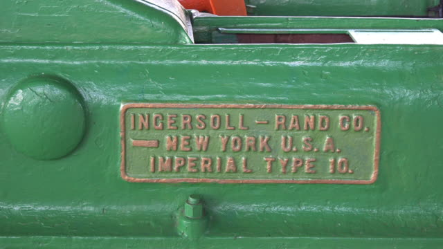 ingersoll and rand co machinery which was common in cuban sugar mills dating before the revolution - metal blend stock videos and b-roll footage
