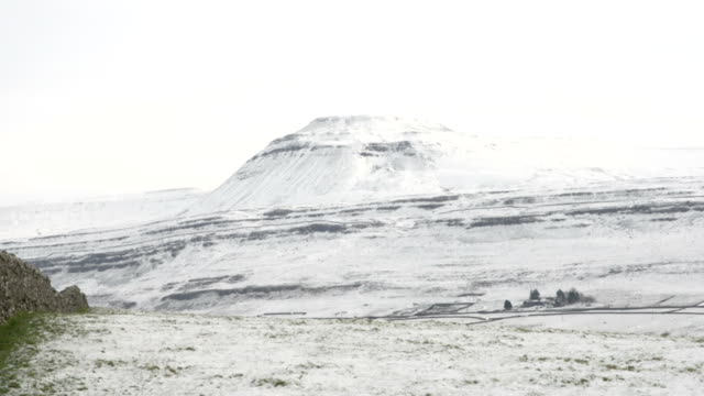 Ingleborough Hill in the snow, North Yorkshire, UK