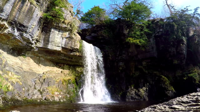 Ingleton Waterfalls in Northern UK - Wide and Close up