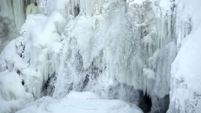 inglis falls in winter - frozen stock videos & royalty-free footage