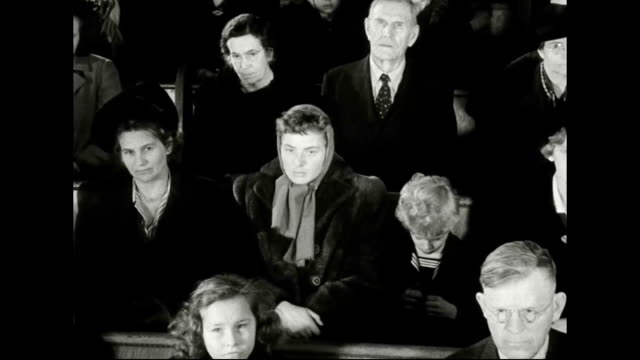 ingrid bergman attends christmas service at swedish lutheran church - パイプオルガン点の映像素材/bロール