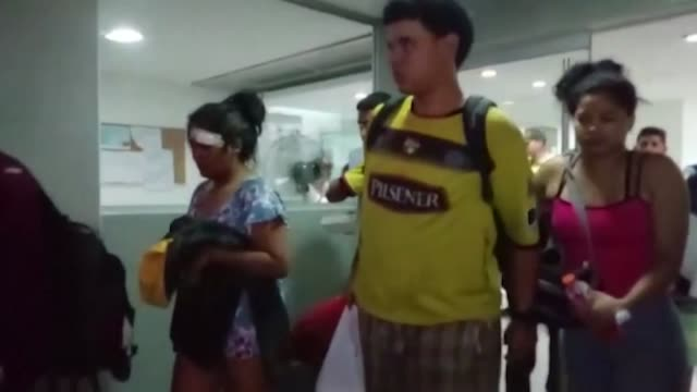 injured people are transferred from a hospital in piura peru to ecuador after a bus carrying ecuadoran football fans plunged into a ravine killing at... - traffic accident stock videos & royalty-free footage