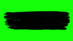 Ink brush paint stroke green screen stock animation