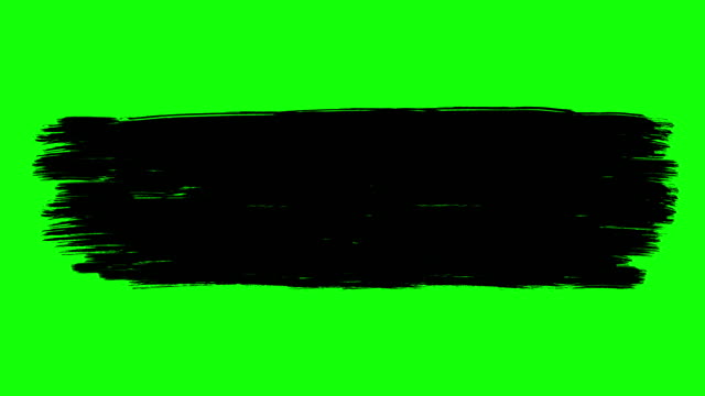 ink brush paint stroke green screen stock animation - black colour stock videos & royalty-free footage