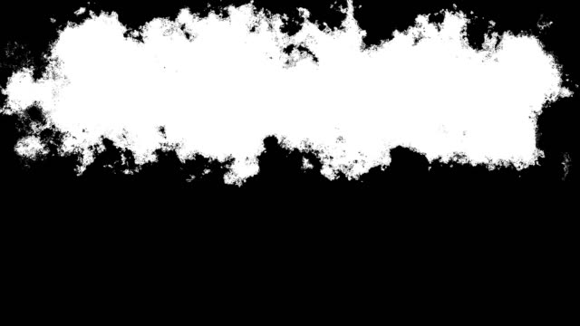 ink pinsel farbe übergang stock animation - schwarzweiß bild stock-videos und b-roll-filmmaterial