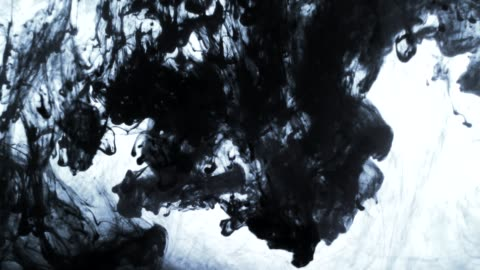ink clouds fall slowly swirls in water - stained stock videos & royalty-free footage