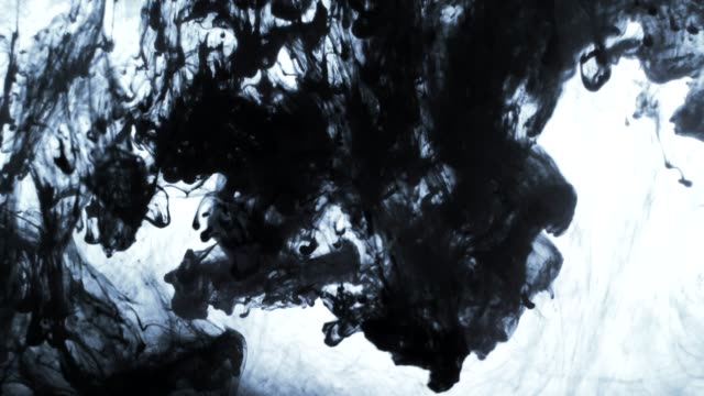 ink clouds fall slowly swirls in water - mixing stock videos & royalty-free footage
