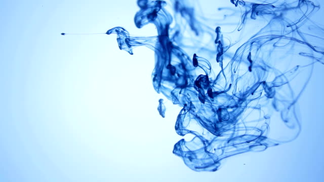 ink drop in hd - navy blue stock videos & royalty-free footage