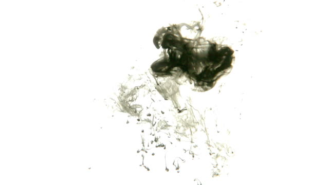 Ink Drop In Water Isolated On White Background Stock Footage