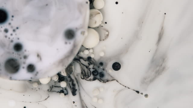 ink drops in motion. acrylic ink in water - gouache stock videos & royalty-free footage