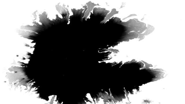 インク滴飛散 - しみ点の映像素材/bロール