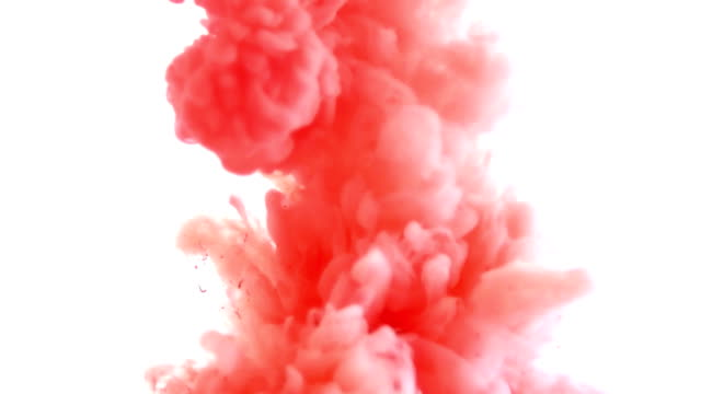 ink in water. colour ink reacting in water creating abstract cloud formations. can be used as transitions, added to modern projects, gunge projects, art backgrounds. inky drops, ink bolts, paint - graffiti stock videos & royalty-free footage