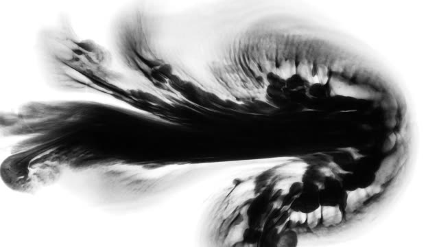 ink in water expand in abstract form and shapes - physics stock videos & royalty-free footage