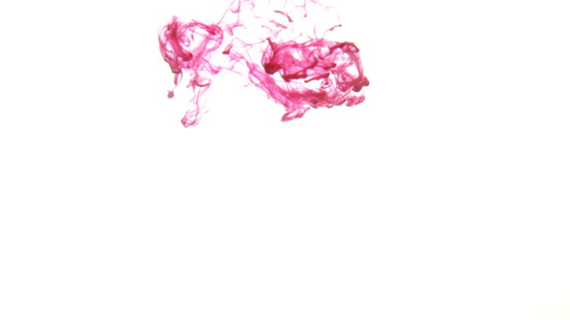 ink in water isolated background - stain test stock videos & royalty-free footage