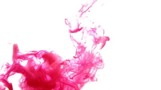 インクの血液に水の絶縁型背景 - しみ点の映像素材/bロール