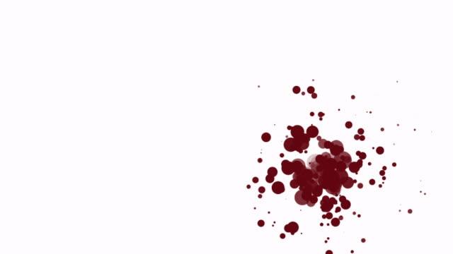 stockvideo's en b-roll-footage met ink paint blood splatter - klodder vorm