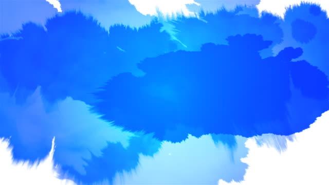 Ink Splat Serie - blue on white & black