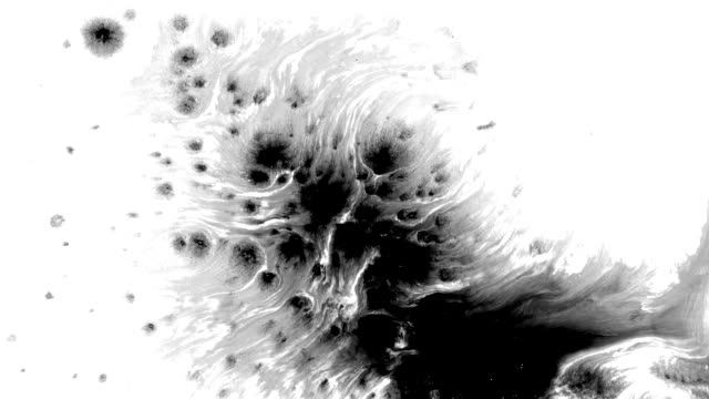 ink splatter in splashes, drops and stains. - isolated colour stock videos & royalty-free footage