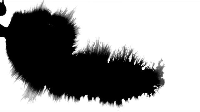 インク汚れの広がり - 絵筆点の映像素材/bロール