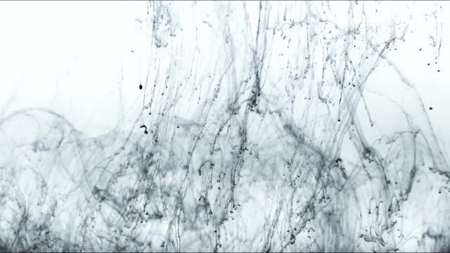 ink strings float in water. - isolated colour stock videos & royalty-free footage