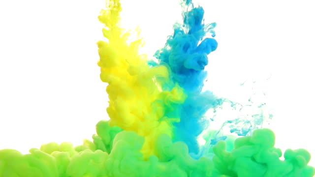 inks in water - yellow stock videos & royalty-free footage