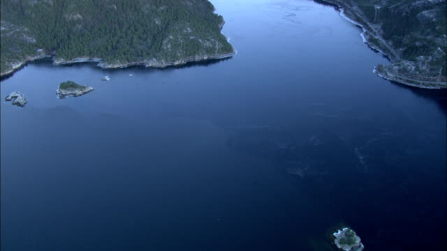 inlets of the norwegian sea are seen from the air. available in hd. - norwegian sea stock videos & royalty-free footage