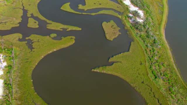 Inlets snake through the Gulf Islands National Seashore.