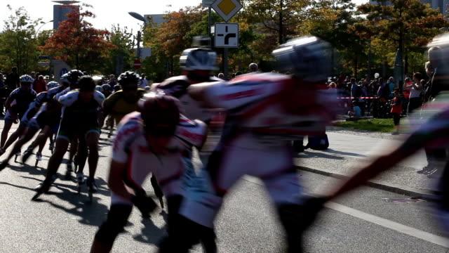 インラインスケート - 出場者点の映像素材/bロール