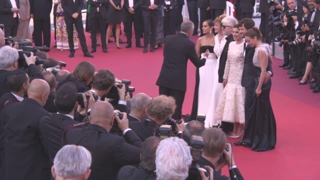 Inma Cuesta Daniel Grao Emma Suarez Inma Cuesta Pedro Almodovar Adriana Ugarte at 'Julieta' Red Carpet on May 17 2016 in Cannes France