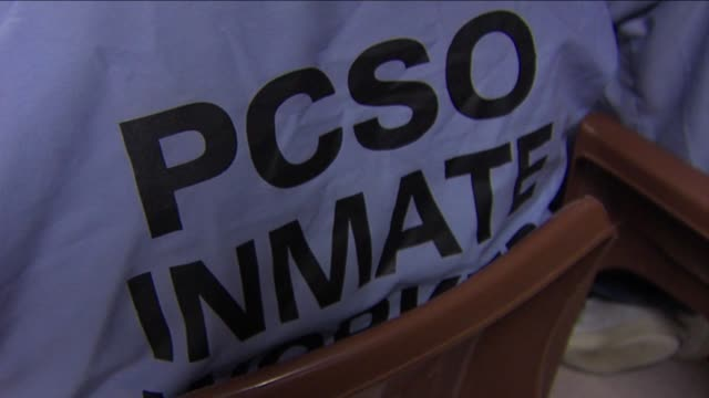 ktla inmates at the placer county jail are working with a new pilot program where they are creating toys for christmas on december 10 2012 in... - prisoner stock videos and b-roll footage
