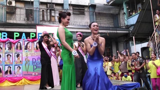 inmates dressed as beauty queens prance on a makeshift stage for a mock beauty pageant at a philippines jail bringing christmas cheer to one of the... - beauty contest stock videos and b-roll footage