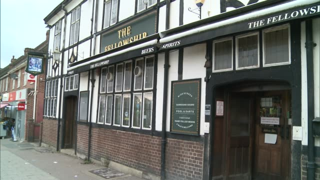 inn where henry cooper used to train given heritage lottery money for restoration england london lewisham ext general view the fellowship inn music... - itv london tonight weekend点の映像素材/bロール