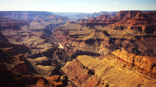 vídeos de stock, filmes e b-roll de inner gorge 180 pan - grand canyon national park