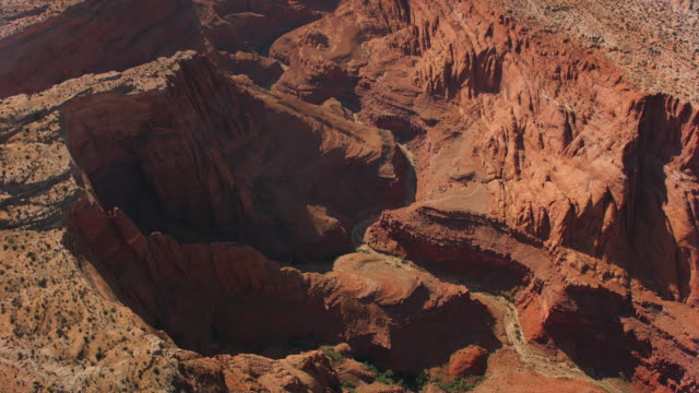 aerial inner gorge of grand canyon - grand canyon stock videos & royalty-free footage