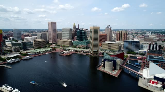 inner harbor of baltimore maryland - baltimore maryland bildbanksvideor och videomaterial från bakom kulisserna