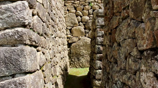 inner view of ancient walls, machu picchu, peru - rectangle stock videos & royalty-free footage